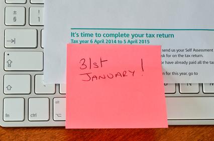 31st January 2016 HMRC tax return deadline