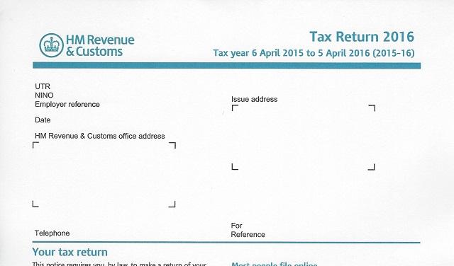 HMRC 2016 tax return SA100 download location