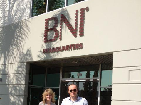 James McBrearty and Joani Durandette - BNI HQ Upland California