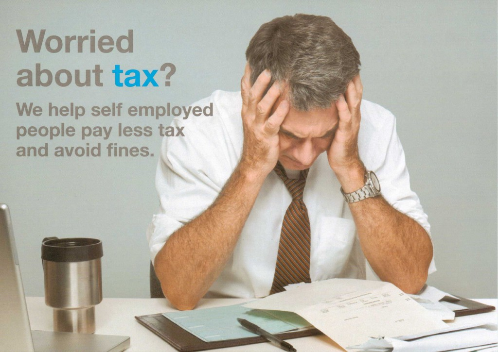 Worried about tax? We specialise in helping self employed people pay less tax and avoid fines