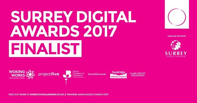 taxhelp.uk.com finalist in the 2017 Surrey Digital Awards