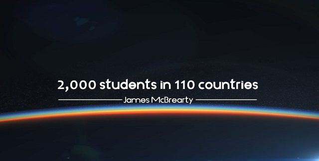 James McBrearty has 2,000 students in 110 countries