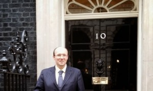 James McBrearty outside Number 10 Downing Street