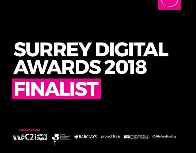 Finalist in the 2018 Surrey Digital Awards