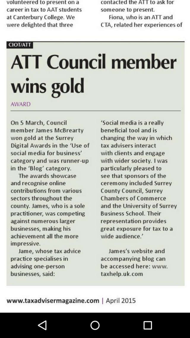TAXAdviser.April2015.James McBrearty.Social Media Gold
