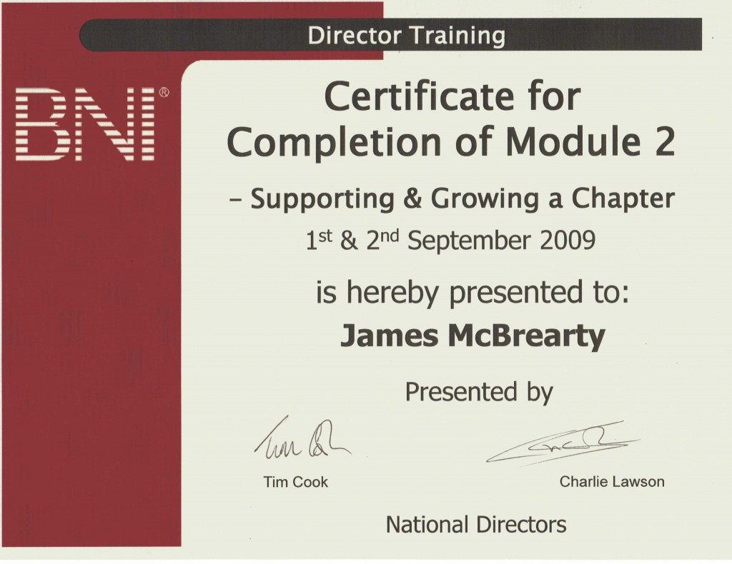 James McBrearty, Director Consultant for BNI