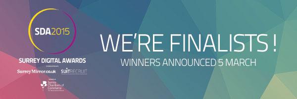 Finalist in the Surrey Digital Awards